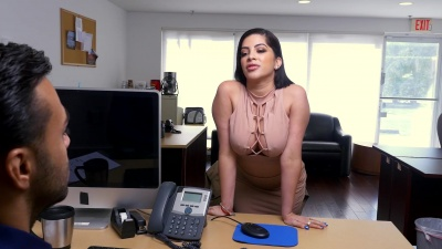 Kitty Caprice blows & rides her boss to keep her job