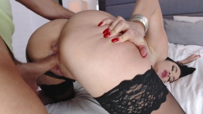 Dirty wife Gigi Allens fucking husband's employee on a hidden camera