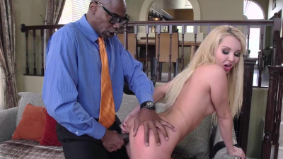 Petite blonde Aaliyah Love pays hubby's debt by fucking a monster bbc
