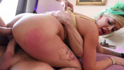Phoenix Madina virgin ass taking first double anal penetration