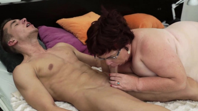 Lusty and large grandma takes cum right inth her mouth