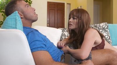 Krissy Lynn milks & takes bf's buddy's big dick balls deep