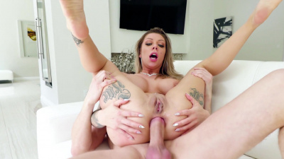 Hot beauty Karma RX got her pussy and asshole ruined