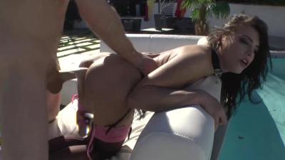 Sex slave Adriana Chechik sucks dick ass-to-mouth
