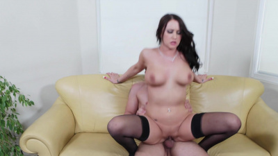 Alexis Grace blackmails her friend's brother into sex