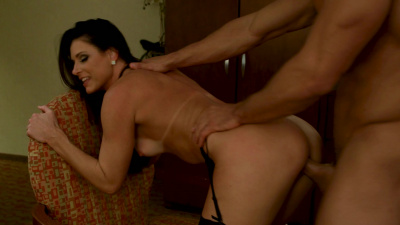 Stewardess India Summer joins the mile high club with male escort