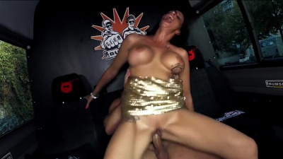 Gorgeous milf Dacada getting her pussy railed in the van