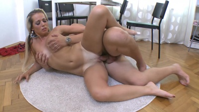 Pigtailed virgin Nona gets licked & fucked in her tight pussy for the first time