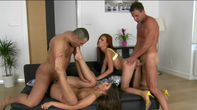 Susana Melo and Susan Ayn euro foursome sex party