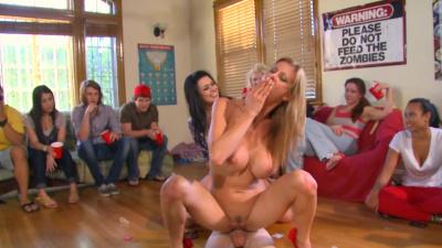 Alexis Fawx, Eva Angelina and Diamond Kitty join sorority party