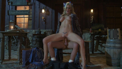 Medieval whore Tanya Tate makes her customer extra happy