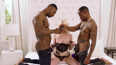 Alice Pink is feeling a little naughty with two big black cocks
