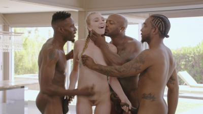 Kendra Sunderland gangbanged by a bunch of black studs