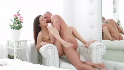 Sweet cutie Roxi Dee enjoys the delicious taste of her boyfriend's hot sperm