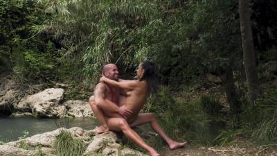 Spanish chick Anastasia Brokelin fucks in multiple positions on the rocks
