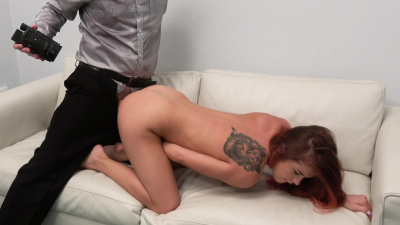 Russian Renata Fox lets a guy creampie her pussy